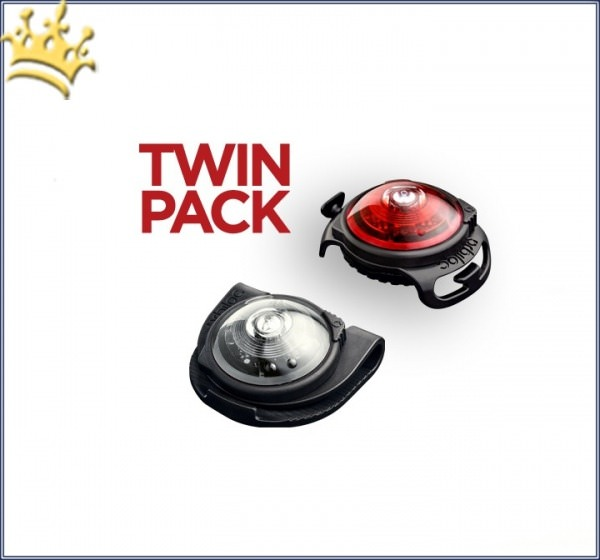 Orbiloc Leuchtbutton Dog Twin Pack