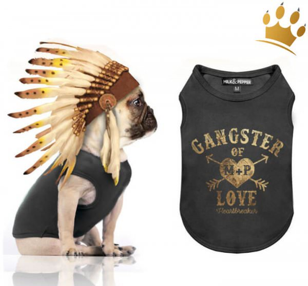 Milk & Pepper Hunde-T-Shirt Gangster of Love