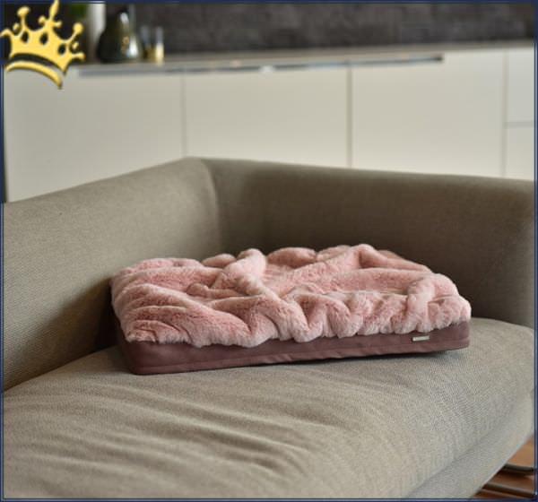 Hundebett mit Decke Altrose