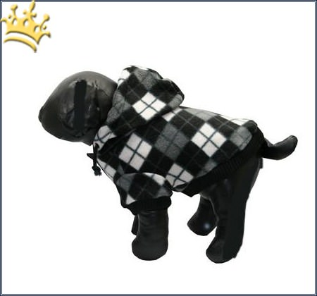Hundejacke Checker black