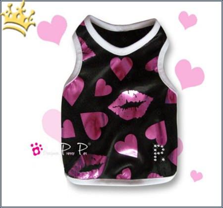Hunde-Tank-Shirt Heart & Kiss
