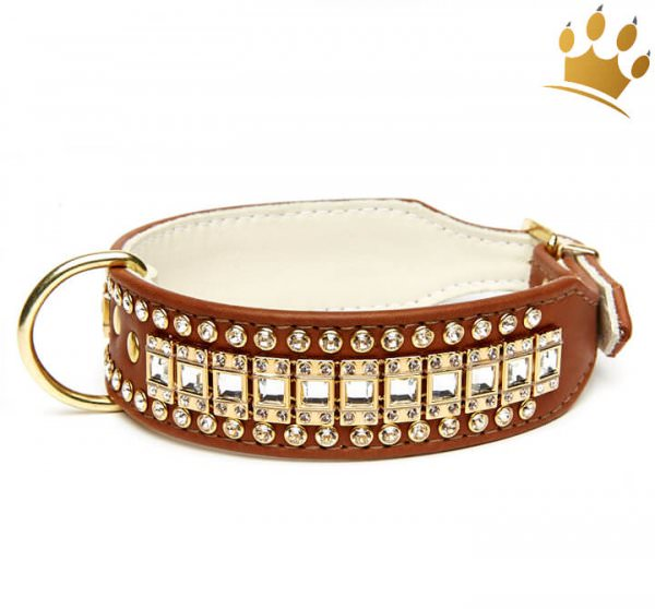 Hundehalsband Hollywood Deluxe Braun