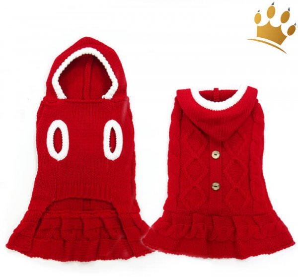 Hundekleid Red Nose Strick