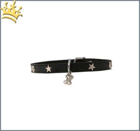 Hundehalsband Silverstar Black
