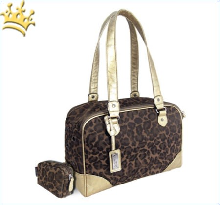 Hundedesignertasche Jungle Gold/Braun