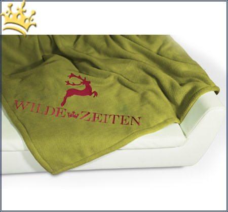 Hundedecke Wilde Zeiten Pistazie / Rot
