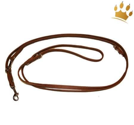 Hundelederleine Royal Rehbraun