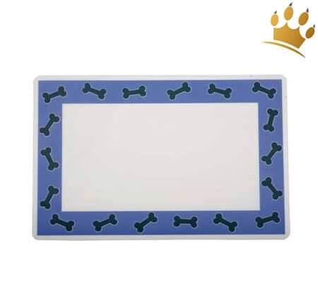 Hunde-Napfunterlage Bones Blau