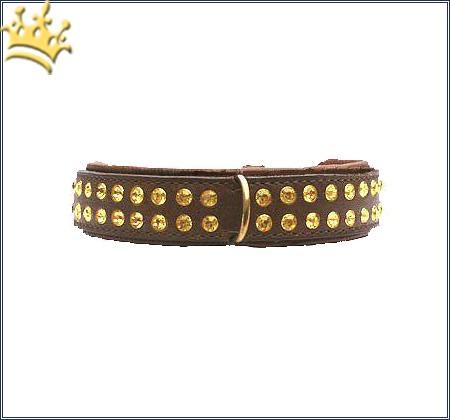 Hundehalsband St.Tropez Braun 30mm
