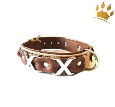 Hundehalsband Cross Over Braun