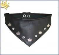 Hundebandana Luxury Strass Black