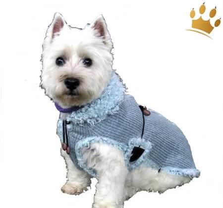 Hundemantel Zürs Blau