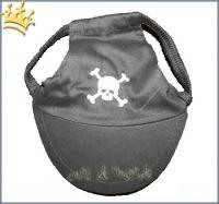 Hundebasecap Black Scull
