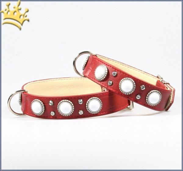 Hundehalsband Malaga Rot