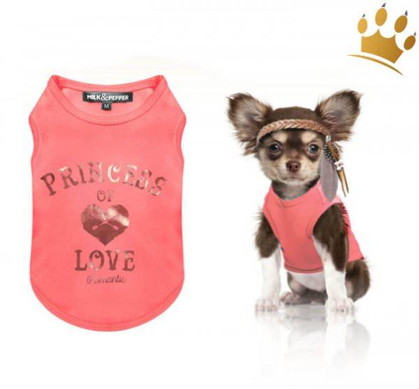 Milk & Pepper Hunde-T-Shirt Princess of Love