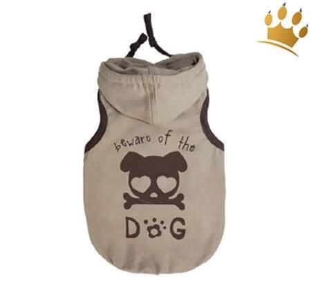 Hundeshirt Beware the Dog Beige