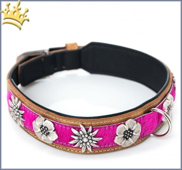 Hundehalsband Blütenmeer Pink