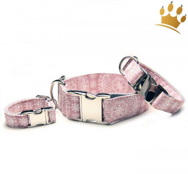 Hundehalsband Mandalas Rose