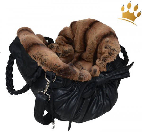 Hundetasche Monaco Vintage Schwarz