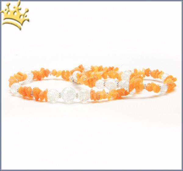 Hunde-Bernsteinkette Summer Weiß