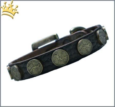 Hundehalsband Moneymaker Braun