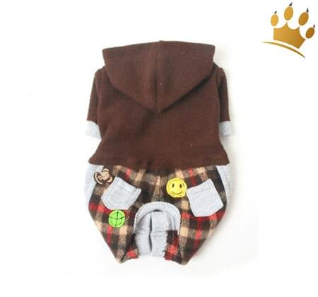 Hunde-Jumper Braun Flannel
