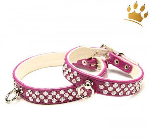 Hundehalsband Luxury Monroe Aubergine