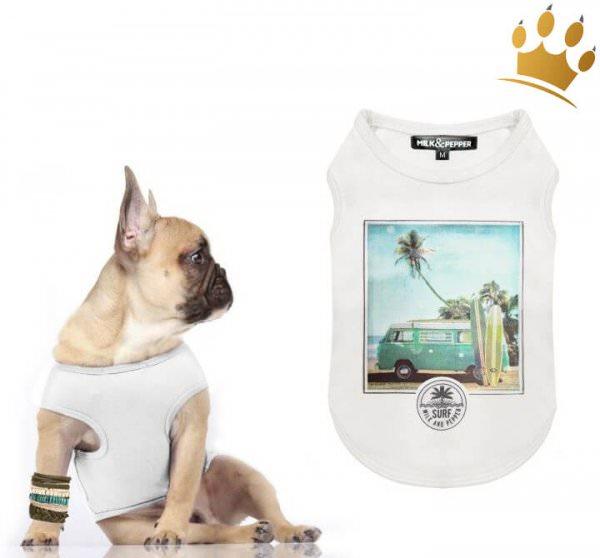 Milk & Pepper Hunde-T-Shirt Kalapana