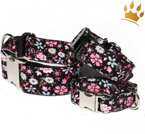 Hundehalsband Pink Flower Deluxe