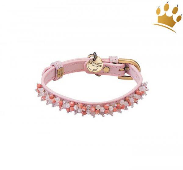 Halsband Dosha Dog Mini Beads Rosa
