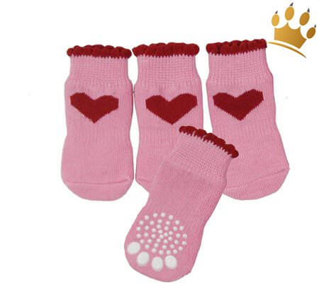 Hundesocken Heart Pink