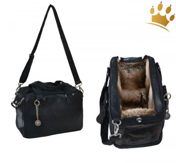 Hundetasche St. Tropez Limited Edition Schwarz-Braun