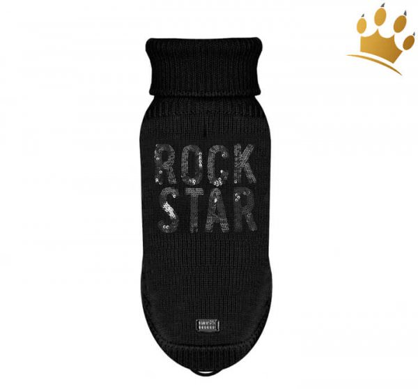 Milk & Pepper Hundepullover Rock Star Schwarz