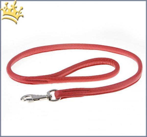 Rundlederleine Uni Rot 100cm
