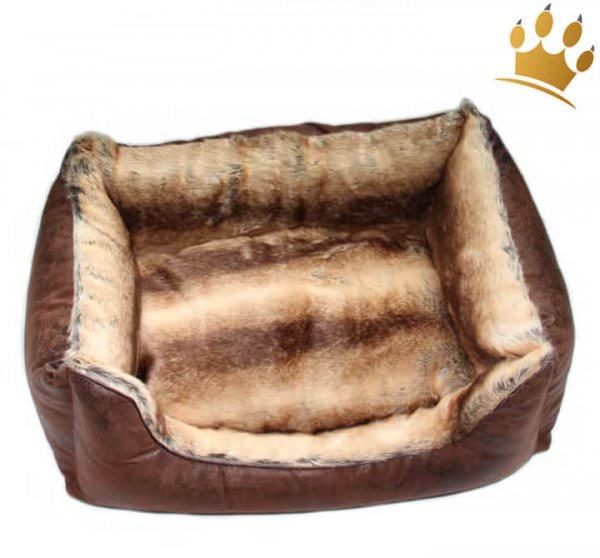 TG&L Hundebetten Vintage Braun Chinchilla Beige