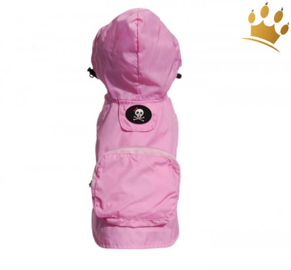Hunderegenjacke Pocket Rosa