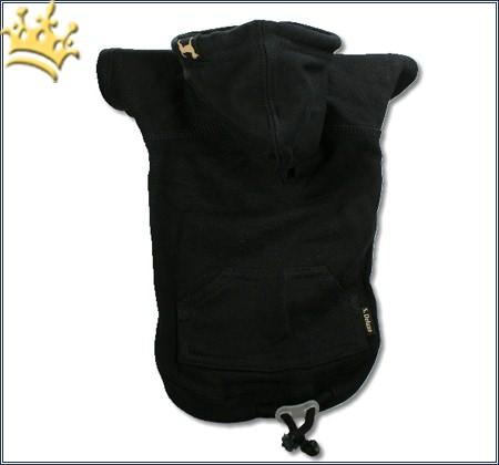 Kapuzen-Sweatshirt Uni Schwarz