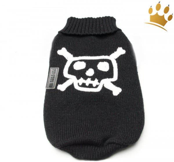 Hundepullover Little Skull Schwarz