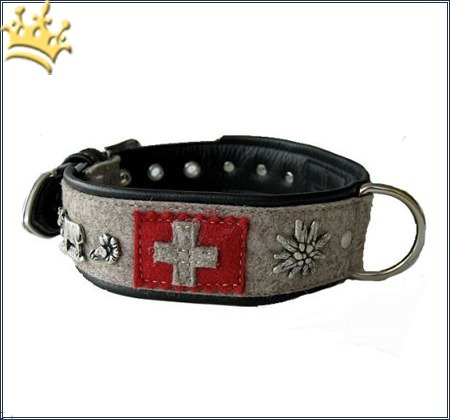 Hundehalsband Edelweiß de Swiss
