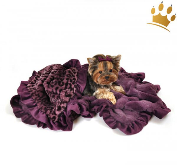 Hundedecke Cheetha Purple Cuddle Throw Big