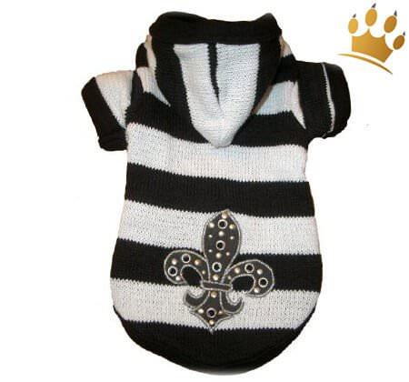 Hunde-Sweater Deluxe Black & White