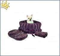 Hundetasche Snuggle Bug Purple Cheetha