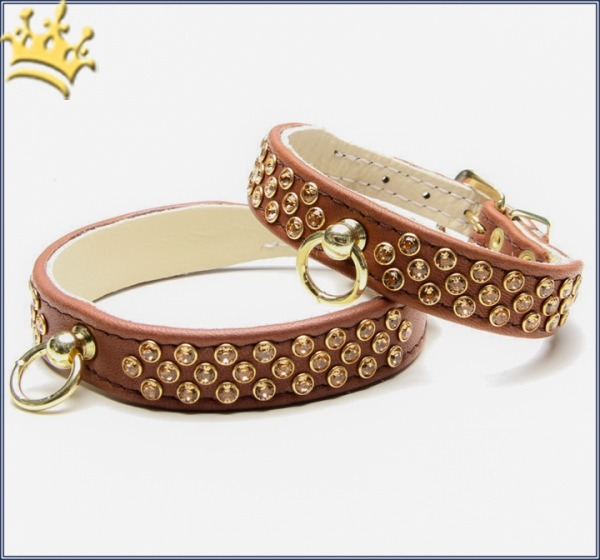 Hundehalsband Luxury Monroe Braun