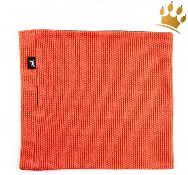 Hunde-Loop Schal Schickobello Orange