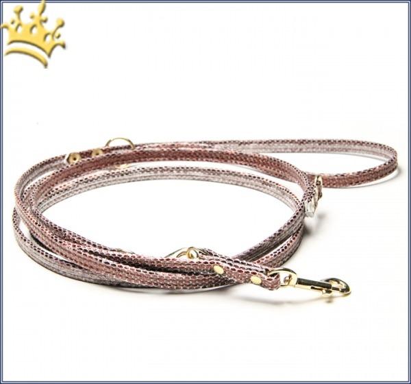 Hundeleine Luxury Monroe Snake Cappucino