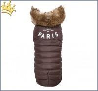 Hundemantel Little Paris Braun