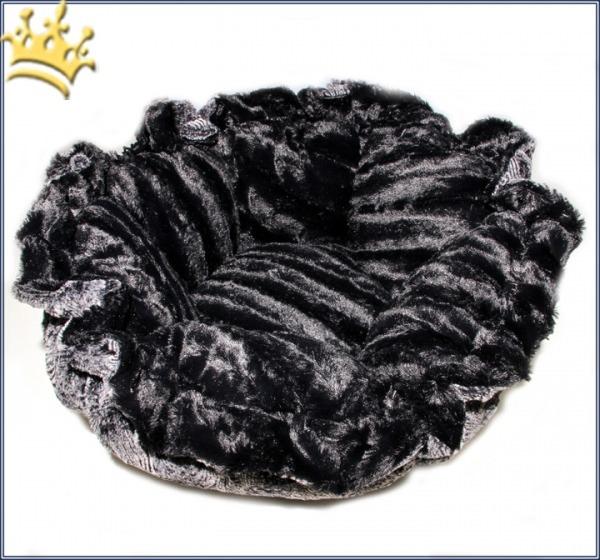 Hundebett Bessie & Barnie Cuddle Pod - Artic Seal - Black Puma