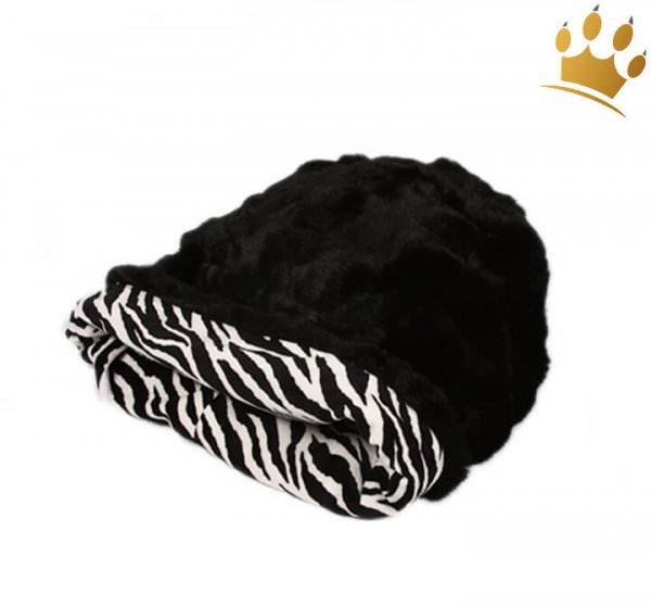 Hundebett Cuddle Cup Zebra Black