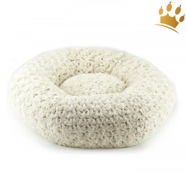 Hundebett Donut Round Frosted Camel Curl