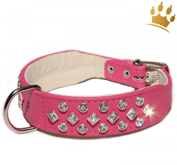 Strasshalsband Luxury Pretty Pink